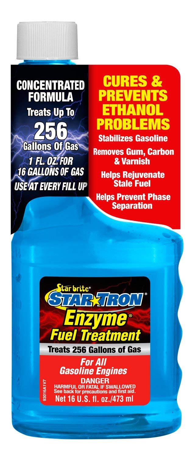 Star Tron Enzyme Fuel Treatment Concentrate - Rejuvenate & Stabilize Old Gasoline, Cure Ethanol Problems, Improve MPG, Reduce Emissions, Increase Horsepower